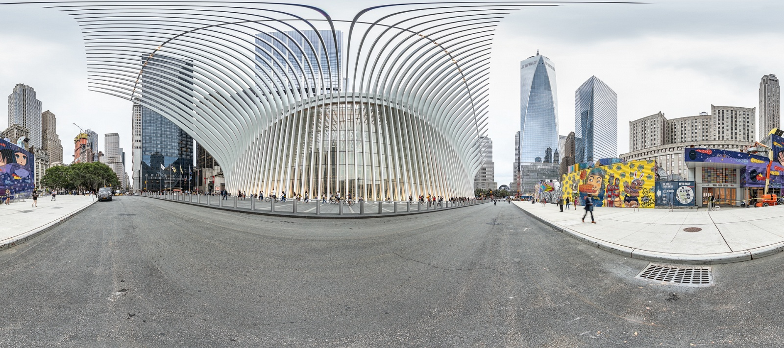 Oculus and One World Trade Center New York 2018